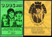 """3 Dog Night at The Santa Barbara Fairgrounds & Other Lot (Equinox, 1969). Concert Posters (2) (14"""" X 22.5""""..."""