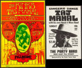 "Movie Posters:Rock and Roll, The Kinks with Taj Mahal at The Fillmore West & Other Lot (Bill Graham, 1969). Concert Posters (2) (11"" X 17"" & 14"" X 21.25""... (Total: 2 Items)"