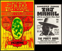 """The Kinks with Taj Mahal at The Fillmore West & Other Lot (Bill Graham, 1969). Concert Posters (2) (11"""" X 17&qu..."""