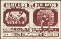 Moody Blues & Richie Havens Double Bill at The Berkeley Community Center (Bill Graham, 1970). Concert Poster # 215A...