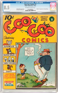 Coo Coo Comics #1 (Nedor Publications, 1942) CGC VF+ 8.5 Off-white to white pages