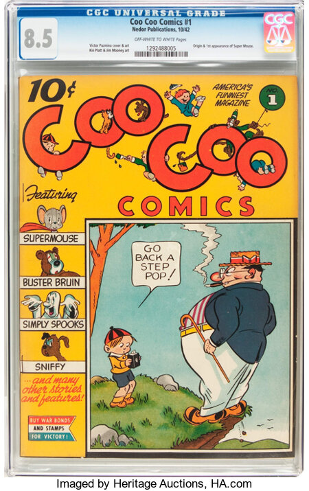 Coo Coo Comics #1 (Nedor Publications, 1942) CGC VF+ 8.5 Off-white to white pages....