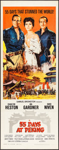 "Movie Posters:Adventure, 55 Days at Peking & Other Lot (Allied Artists, 1963). Inserts (2) (14"" X 36""). Adventure.. ... (Total: 2 Items)"