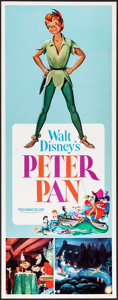 "Movie Posters:Animation, Peter Pan & Other Lot (Buena Vista, R-1969). Inserts (2) (14"" X36""). Animation.. ... (Total: 2 Items)"