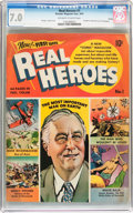 Golden Age (1938-1955):Non-Fiction, Real Heroes Comics #1 Denver Pedigree (Parents' Magazine Institute,1941) CGC FN/VF 7.0 Off-white to white pages....