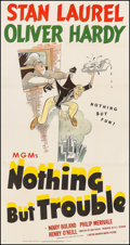 """Movie Posters:Comedy, Nothing but Trouble (MGM, 1944). Three Sheet (41"""" X 79""""). Comedy....."""