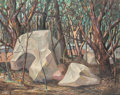 Fine Art - Painting, American:Modern  (1900 1949)  , Douthitt Wilson (American, 1903-1973). Boulders and Trees.Oil on canvas laid on masonite. 24 x 30 inches (61.0 x 76.2 c...