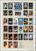 "Movie Posters:Science Fiction, Star Wars Checklist (Kilian, 1985). Printer's Proof One Sheet (28"" X 41"") DS. Science Fiction.. ..."
