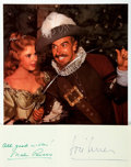 Autographs:Celebrities, [Cyrano de Bergerac] Mala Powers and José Ferrer Autographs....