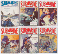 Submarine Stories Group of 6 (Dell, 1929-30) Condition: Average VG.... (Total: 6 Items)