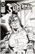 Original Comic Art:Covers, Ed Hannigan, Kerry Gammill, and Jackson Guice Action Comics#692 Cover Superman Original Art (DC, 1993)....