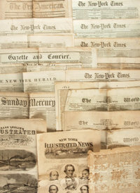 [Lincoln/Civil War]. Collection of Nineteenth Century American Newspapers