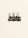 Prints, Wayne Thiebaud (b. 1920). Candy Apples, 1964. Sugarlift aquatint on wove paper. 5 x 5-3/4 inches (12.7 x 14.5 cm) (plate...