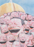 Prints:Contemporary, Yue Minjun (b. 1962). Untitled (Smile-ism). Lithograph incolors on wove paper. 33-1/4 x 31-1/2 inches (84.6 x 80 cm) (s...