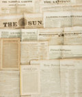Miscellaneous:Newspaper, Collection of Nineteenth Century Newspapers....