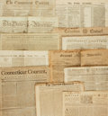 Miscellaneous:Newspaper, [Early American Papers]. Group of Twelve Newspapers from 1769through 1796....