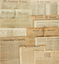 [Early American Papers]. Group of Twelve Newspapers from 1769 through 1796