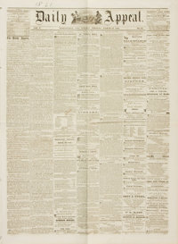 [Pony Express]. Newspaper: Marysville Daily Appeal. Vol. 3, No. 60. March 12, 1861
