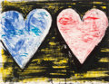 Post-War & Contemporary:Pop, Jim Dine (b. 1935). Two Hearts at Sunset, 2005. Lithographin colors on wove paper. 20-1/2 x 26-1/4 inches (52.1 x 66.8 ...