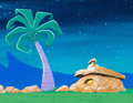 Animation Art:Painted cel background, The Flintstones Kids Painted Production Background(Hanna-Barbera, 1986)....