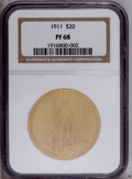 Proof Saint-Gaudens Double Eagles: , 1911 $20 PR68 NGC. NGC Census: (3/0). Mintage: 100. Numismedia Wsl.Price: $200,000. (#9208)...