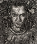 Photographs, Vik Muniz (b. 1961). Self Portrait, from Pictures of Soil, 1997. Gelatin silver. 22-1/4 x 19-1/4 inches (56.5 x 48.8...