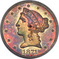 Patterns, 1871 $5 Five Dollar, Judd-1170, Pollock-1312, R.6-7, PR65 Red and Brown PCGS....