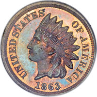 1863 1C One Cent, Judd-299, Pollock-359, R.3, PR64 Red and Brown NGC....(PCGS# 70454)