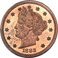 Patterns, 1882 5C Liberty Head Five Cents, Judd-1691, Pollock-1893, R.6, PR63 Red and Brown PCGS....