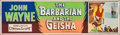 "Movie Posters:Drama, The Barbarian and the Geisha (20th Century Fox, 1958). Banner (24""X 82). Drama.. ..."
