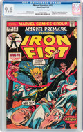 Bronze Age (1970-1979):Superhero, Marvel Premiere #15 Iron Fist (Marvel, 1974) CGC NM+ 9.6 Off-white to white pages....