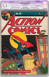 Action Comics #23 Married Centerfold (DC, 1940) CGC Apparent VG- 3.5 Slight (A-1) Off-white pages