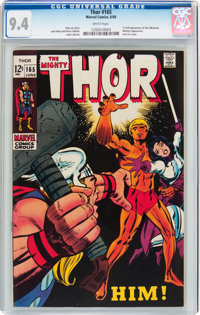 Thor #165 (Marvel, 1969) CGC NM 9.4 White pages