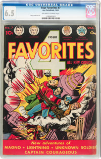 Four Favorites #7 (Ace, 1942) CGC FN+ 6.5 Off-white to white pages