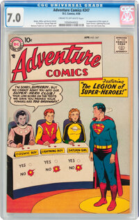 Adventure Comics #247 (DC, 1958) CGC FN/VF 7.0 Cream to off-white pages
