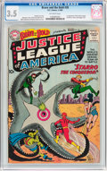 Silver Age (1956-1969):Superhero, The Brave and the Bold #28 Justice League of America (DC, 1960) CGC VG- 3.5 Off-white pages....