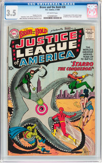 The Brave and the Bold #28 Justice League of America (DC, 1960) CGC VG- 3.5 Off-white pages