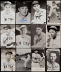 Baseball Collectibles:Others, New York Yankees Signed Vintage Postcards Lot of 44. ...
