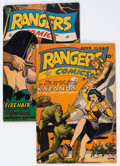 Golden Age (1938-1955):War, Rangers Comics #23 and 34 Group (Fiction House, 1945-47) Condition:Average VG+.... (Total: 2 Comic Books)