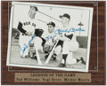 Baseball Collectibles:Photos, Ted Williams, Yogi Berra and Mickey Mantle Multi SignedPhotograph....
