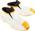 Basketball Collectibles:Others, 2002 Kobe Bryant Game Worn Signed Shoes. ...
