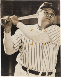 Baseball Collectibles:Photos, 1948 Babe Ruth Signed Poster--One of the Largest Signed Ruth ImagesKnown!...