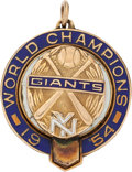 Baseball Collectibles:Others, 1954 New York Giants World Championship Pendant....