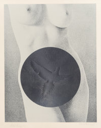 Mel Ramos (b. 1935) Dove Tail, from the Leda and the Swan series, 1969 Lithograph on silv