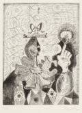 Prints:Contemporary, George Condo (b. 1957). Untitled, 1989. Etching withaquatint on Hahnemühle paper. 9-1/4 x 7 inches (23.5 x 17.8 cm)(pl...