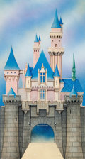 Animation Art:Production Drawing, Sleeping Beauty Disneyland Castle Illustration Original Art(Walt Disney, c. 1970s)....