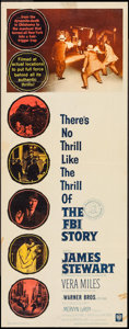 """Movie Posters:Crime, The FBI Story (Warner Brothers, 1959). Insert (14"""" X 36""""). Crime....."""