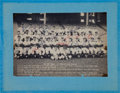 Baseball Collectibles:Photos, 1957 New York Yankees Signed Oversized Photograph. ...