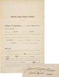 "Baseball Collectibles:Others, 1919 Harold ""Muddy"" Ruel Signed New York Yankees Player's Contract. ... (Total: 5 item)"