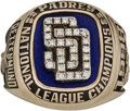 Baseball Collectibles:Others, 1998 San Diego Padres National League Championship Ring Presentedto Hitting Coach Merv Rettenmund....